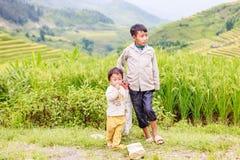 H ` mong 2016年10月16日的少数族裔孩子在Laocai,越南 免版税图库摄影