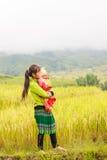 H ` mong mniejszości etnicznej dzieci na Październiku 16, 2016 w Laocai, Wietnam Zdjęcia Royalty Free