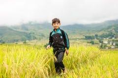 H ` mong mniejszości etnicznej dzieci na Październiku 16, 2016 w Laocai, Wietnam Zdjęcie Stock