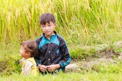 H ` mong mniejszości etnicznej dzieci na Październiku 16, 2016 w Laocai, Wietnam Obrazy Royalty Free