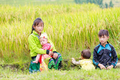 H ` mong mniejszości etnicznej dzieci na Październiku 16, 2016 w Laocai, Wietnam Fotografia Stock