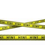 H1N1小心镶边例证 免版税库存照片