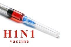 H1N1疫苗背景 库存图片
