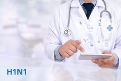 H1N1 Fotografering för Bildbyråer
