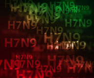 H7N9 avian flu background Stock Photography