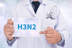 H3N2 Royalty Free Stock Images
