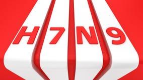 H7N9 en las rayas blancas Fotografía de archivo libre de regalías