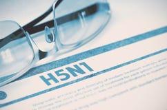 H5N1 - Gedrukte Diagnose MEDISCH concept 3D Illustratie Royalty-vrije Stock Afbeelding