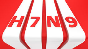 H7N9 sur les rayures blanches Photographie stock libre de droits