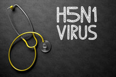 H5N1 - Text on Chalkboard. 3D Illustration. Stock Images