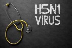 H5N1 - Text på den svart tavlan illustration 3d Arkivbilder