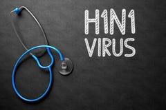 H1N1 - Texto no quadro ilustração 3D Foto de Stock