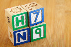 H7N9 toy block Royalty Free Stock Photo