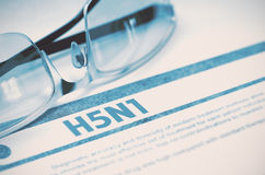 H5N1 - Utskrivaven diagnos MEDICINSKT begrepp illustration 3d Royaltyfri Bild