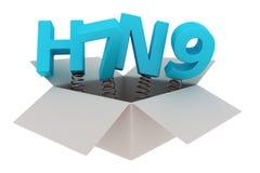 H7N9 verrassing Stock Afbeelding