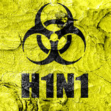 H1N1 virus concept background Stock Images