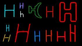 H-Neon-Zeichen Stockbild