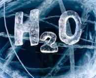 水h2o化学式 库存照片图片