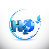 H2o illustration design Stock Images