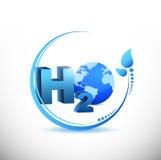 H2o illustration design Stock Images