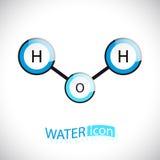 H2o L'icona della molecola di acqua Illustrazione Vettoriale