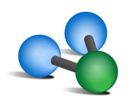 H2O Molecule Stock Photo