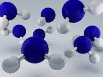 H2O Molecules 3d Royalty Free Stock Image