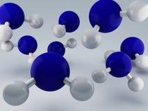 H2O molekuły 3d ilustracja wektor