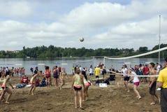 H.O.P.E de toernooien van het volleyball in Ottawa Stock Foto