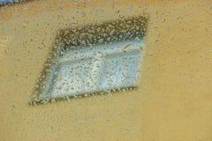 h2o raindrops okno pisać Obrazy Stock