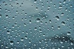 h2o raindrops okno pisać Fotografia Stock
