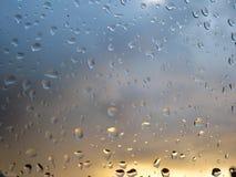 h2o raindrops okno pisać Zdjęcie Stock