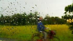 h2o raindrops okno pisać Zdjęcia Royalty Free