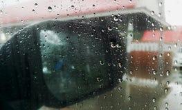 h2o raindrops okno pisać Obraz Royalty Free
