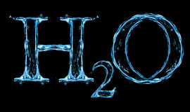 H2O Splash Water Formula. Isolated on a white background Royalty Free Stock Photo