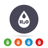 H2O Water drop sign icon. Tear symbol. Stock Photography