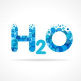 H2O water logo Royalty Free Stock Photo