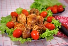 höna stekte grönsaker Arkivfoton