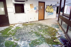 Hôpital abandonné Images libres de droits