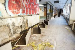 Hôpital abandonné Images stock