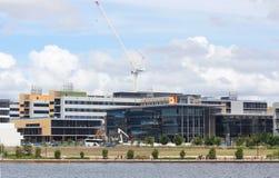 Hôpital d'université de côte de soleil en construction images libres de droits