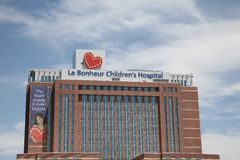 Hôpital du ` s d'enfants de LeBonheur photo stock