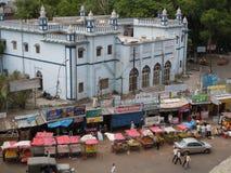 Hôpital et marché en plein air images libres de droits