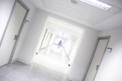 Hôpital intérieur de couloir Photo stock