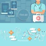 Hôpital médical et de soins de santé de concept de professionnels de médecins Photo libre de droits