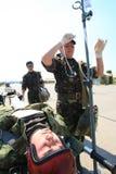 Hôpital mobile militaire Images libres de droits
