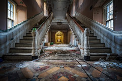 Hôpital psychiatrique abandonné images stock