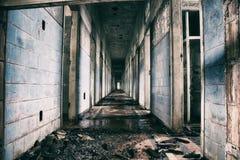 Hôpital psychiatrique abandonné au Brésil Images libres de droits