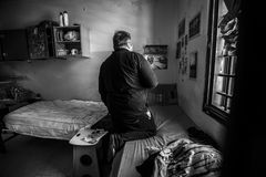 Hôpital psychiatrique criminel Photos stock