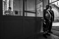 Hôpital psychiatrique criminel Images libres de droits
